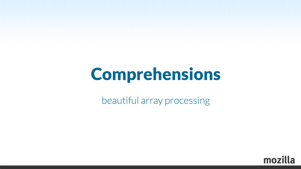 Comprehensions beautiful array processing