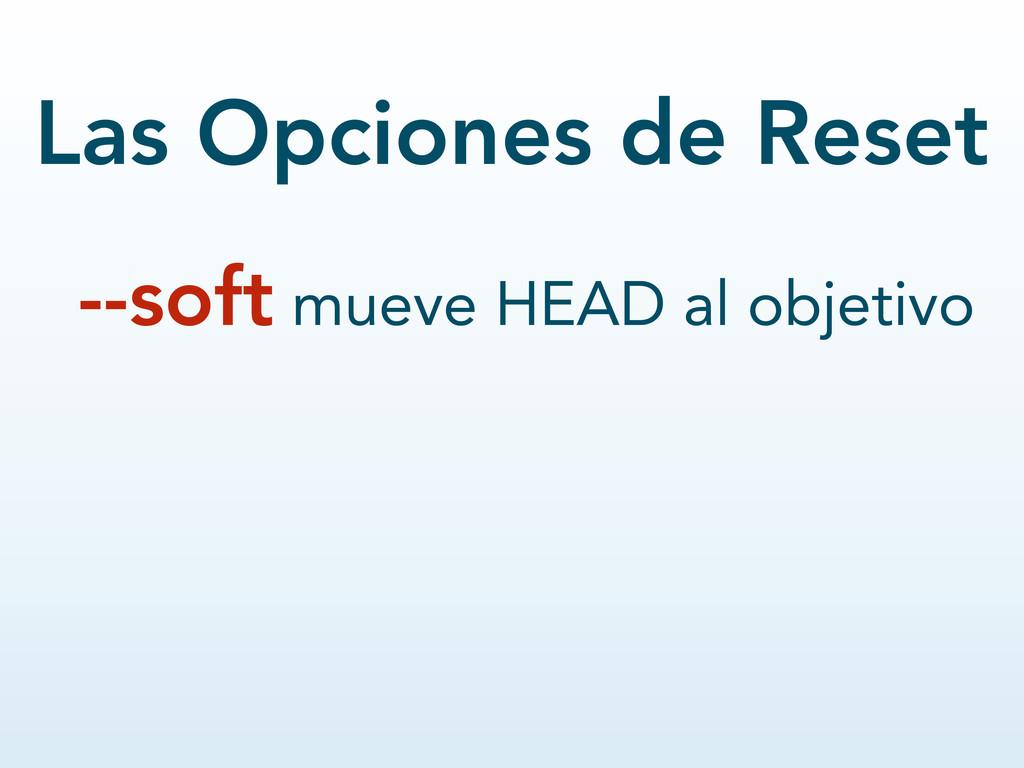 --soft mueve HEAD al objetivo Las Opciones de R...