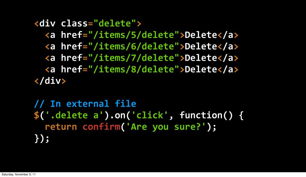 """<div class=""""delete"""">   <a href=""""/items/5/de..."""