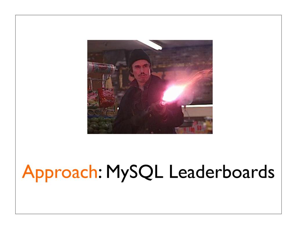 Approach: MySQL Leaderboards
