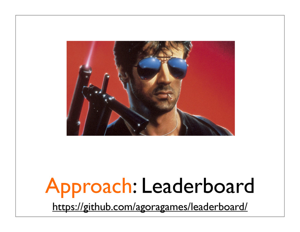 Approach: Leaderboard https://github.com/agorag...