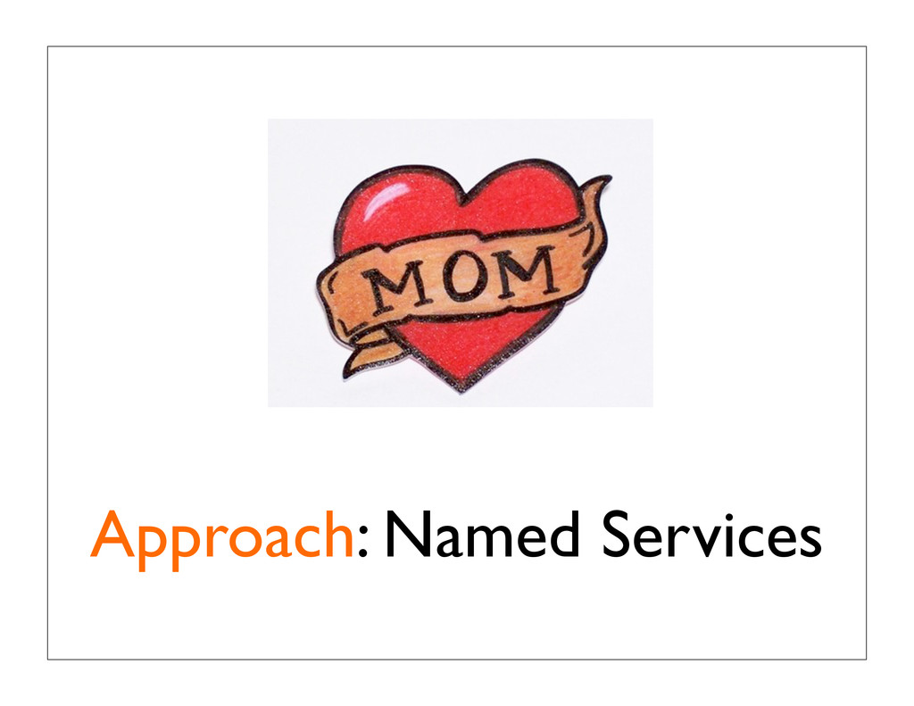 Approach: Named Services