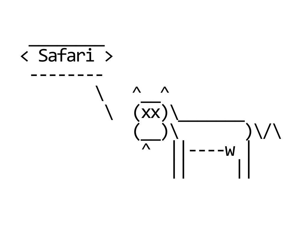 ________  < Safari >  -‐-‐-‐...