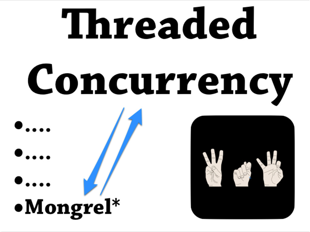 •.... •.... •.... •Mongrel* readed Concurrency