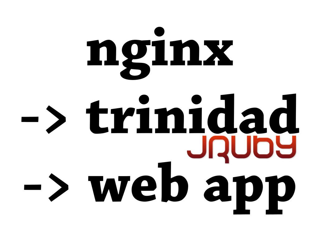 nginx -> trinidad -> web app