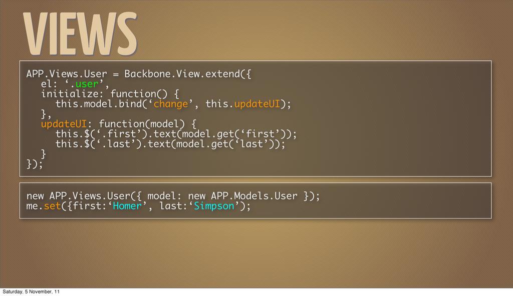 VIEWS APP.Views.User = Backbone.View.extend({ e...