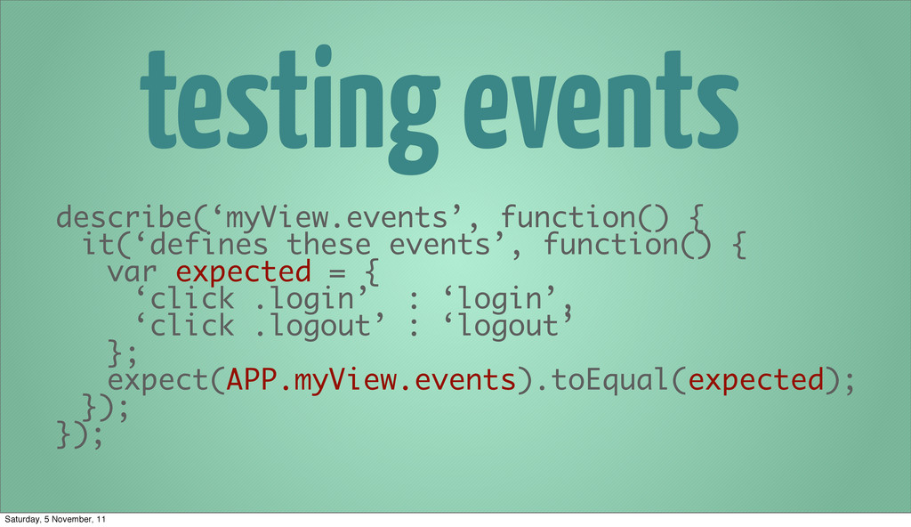 testing events describe('myView.events', functi...