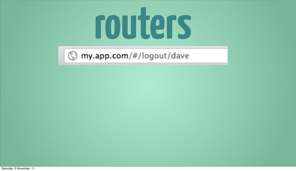 routers Saturday, 5 November, 11