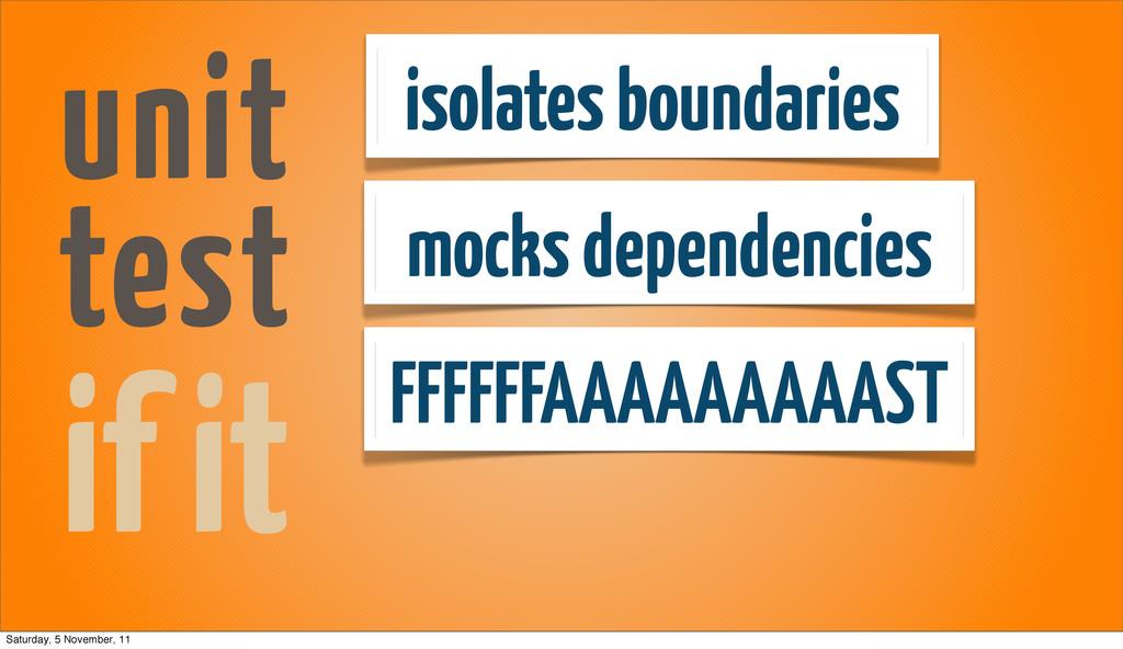 isolates boundaries mocks dependencies FFFFFFAA...