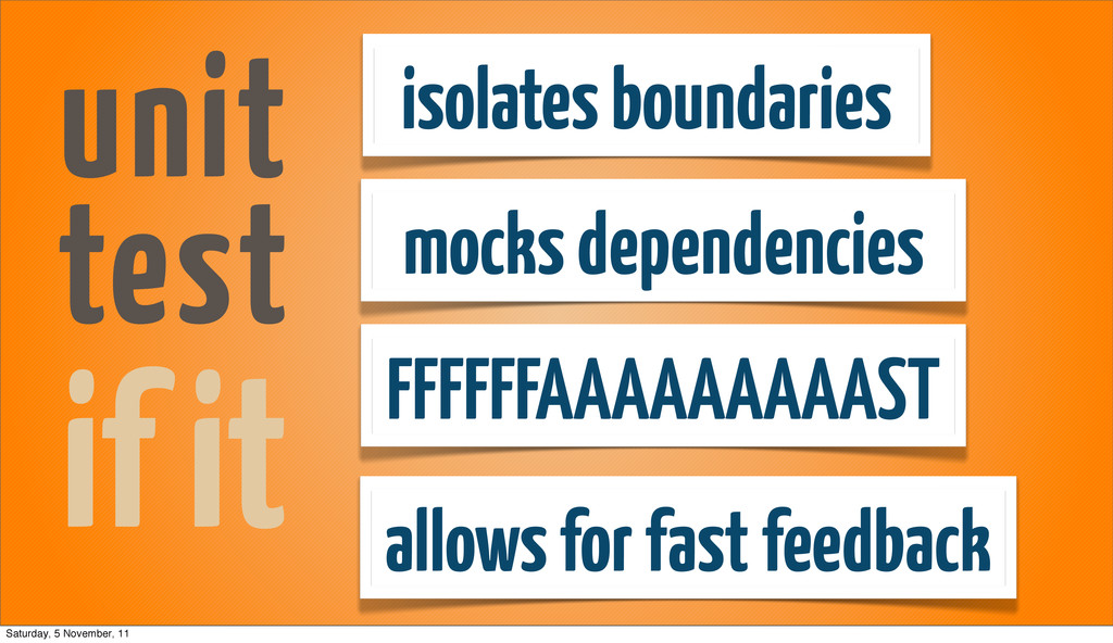 isolates boundaries mocks dependencies allows f...