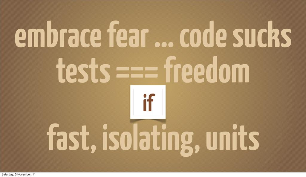 embrace fear ... code sucks tests === freedom f...