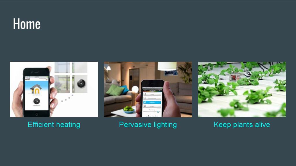 Home Efficient heating Pervasive lighting Keep ...