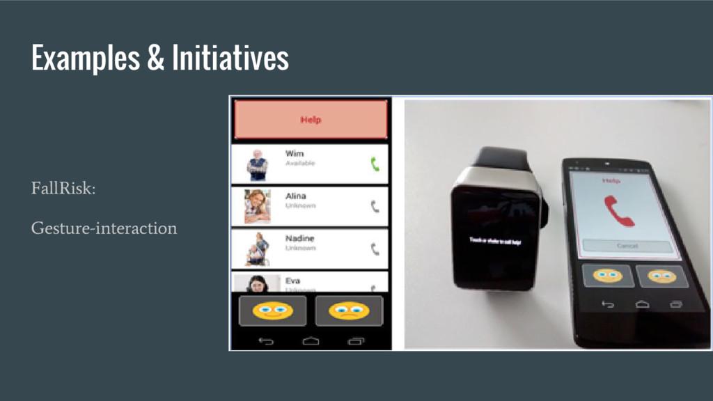 Examples & Initiatives FallRisk: Gesture-intera...