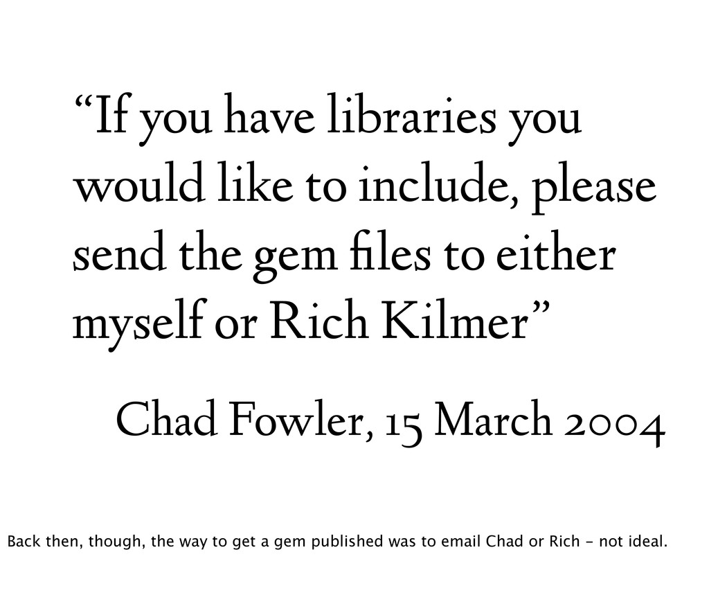 """""""If you have libraries you would like to includ..."""