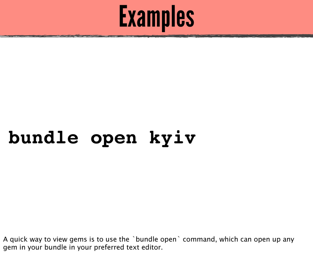 Examples bundle open kyiv A quick way to view g...