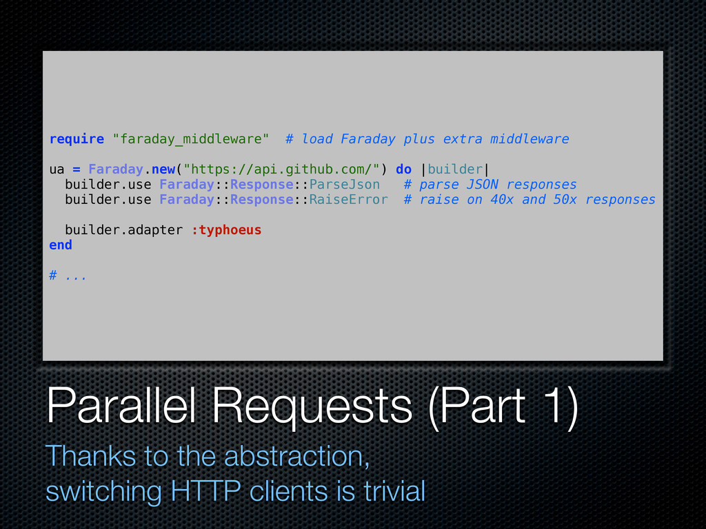 Parallel Requests (Part 1) Thanks to the abstra...