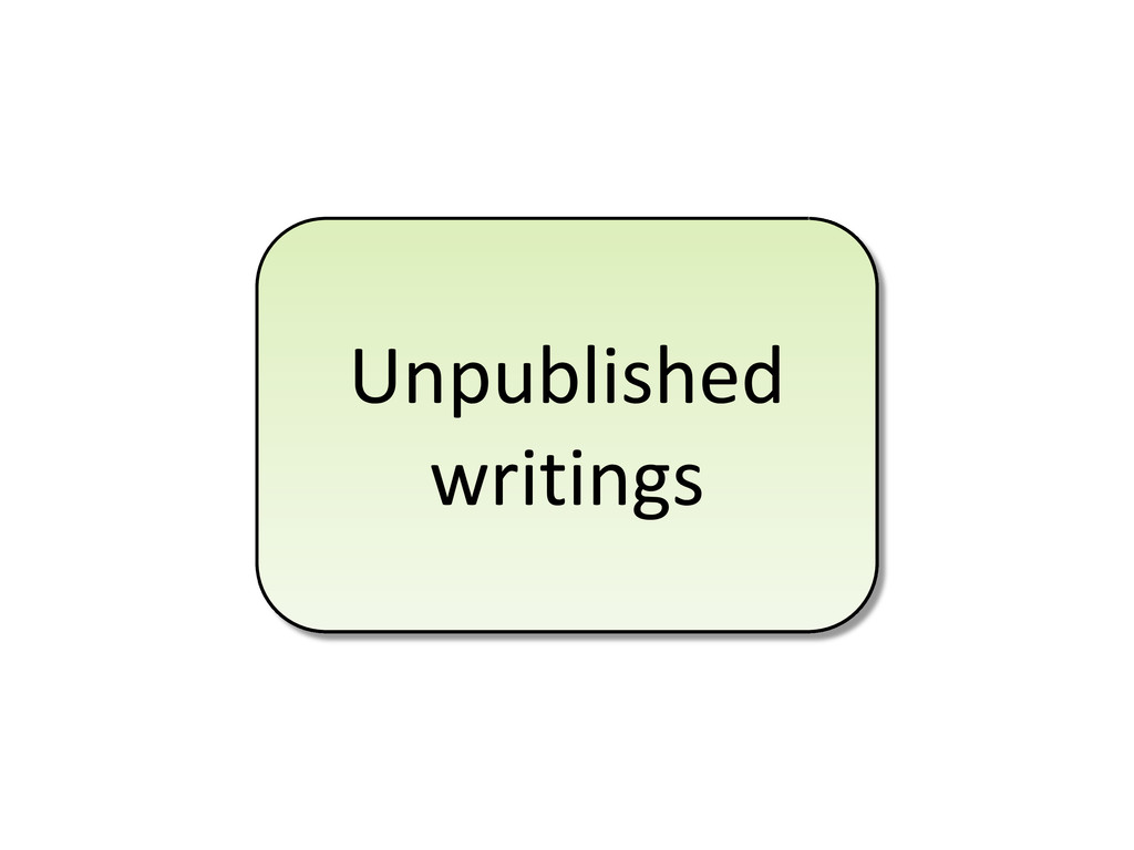Unpublished writings