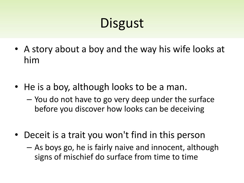 Disgust • A story about a boy and the way his w...