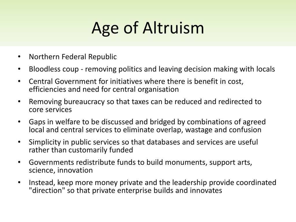 Age of Altruism • Northern Federal Republic • B...