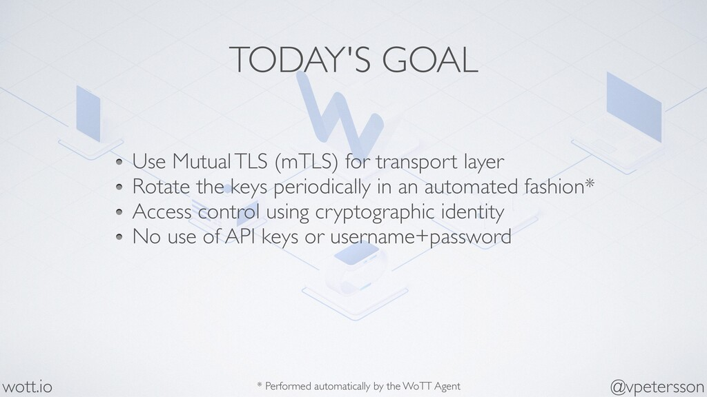 TODAY'S GOAL Use Mutual TLS (mTLS) for transpor...