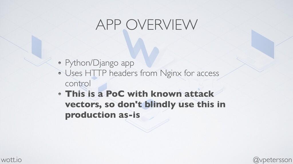 APP OVERVIEW Python/Django app Uses HTTP header...