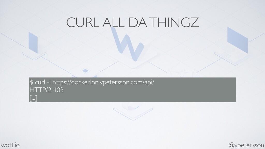 CURL ALL DA THINGZ $ curl -I https://dockerlon....