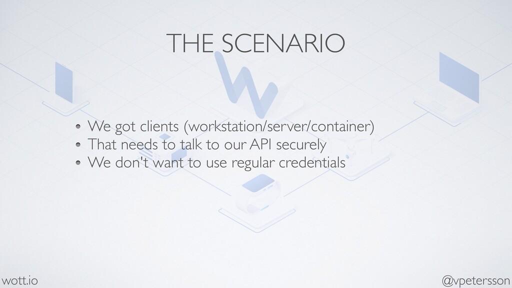 THE SCENARIO We got clients (workstation/server...
