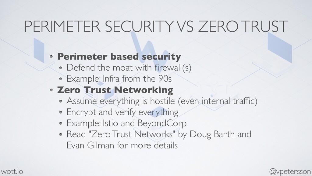 PERIMETER SECURITY VS ZERO TRUST Perimeter base...
