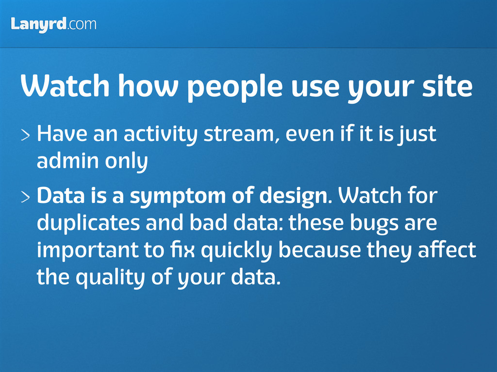 Lanyrd.com Watch how people use your site Have ...