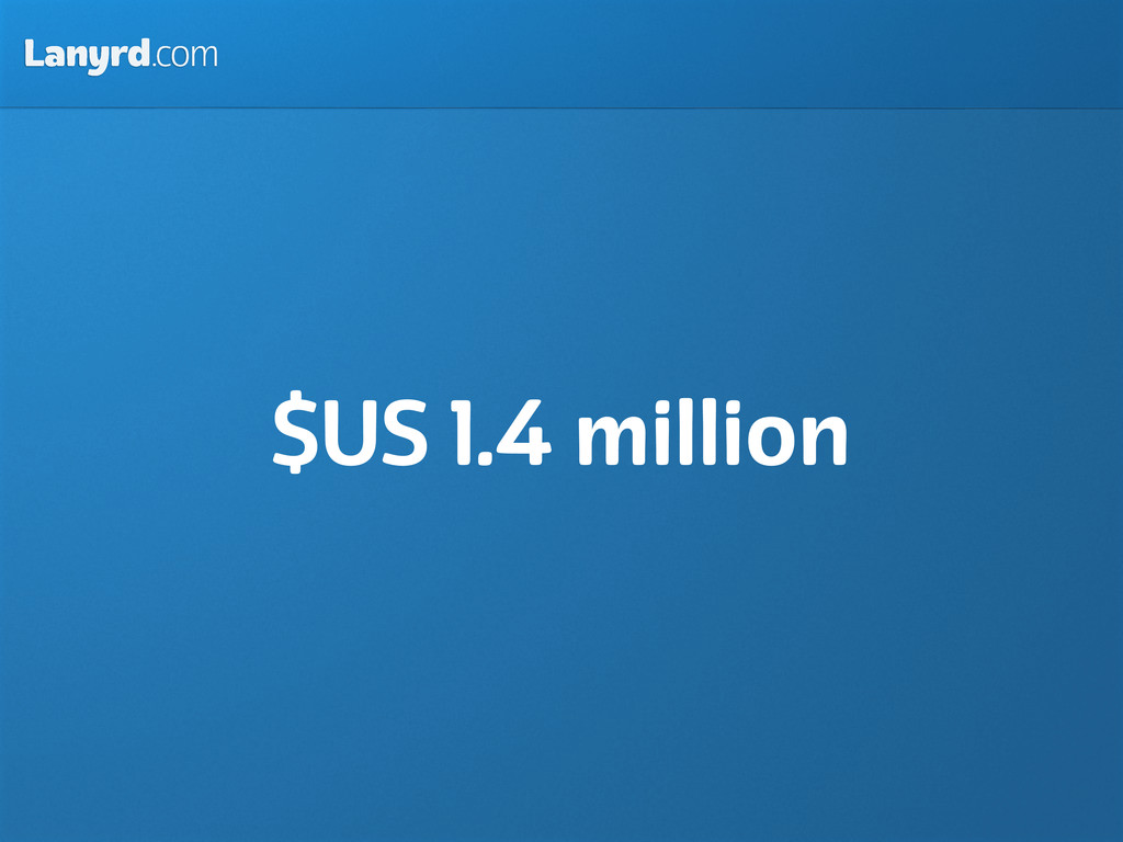 Lanyrd.com $US 1.4 million