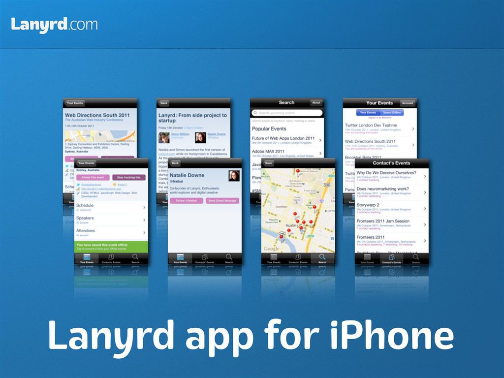 Lanyrd.com Lanyrd app for iPhone