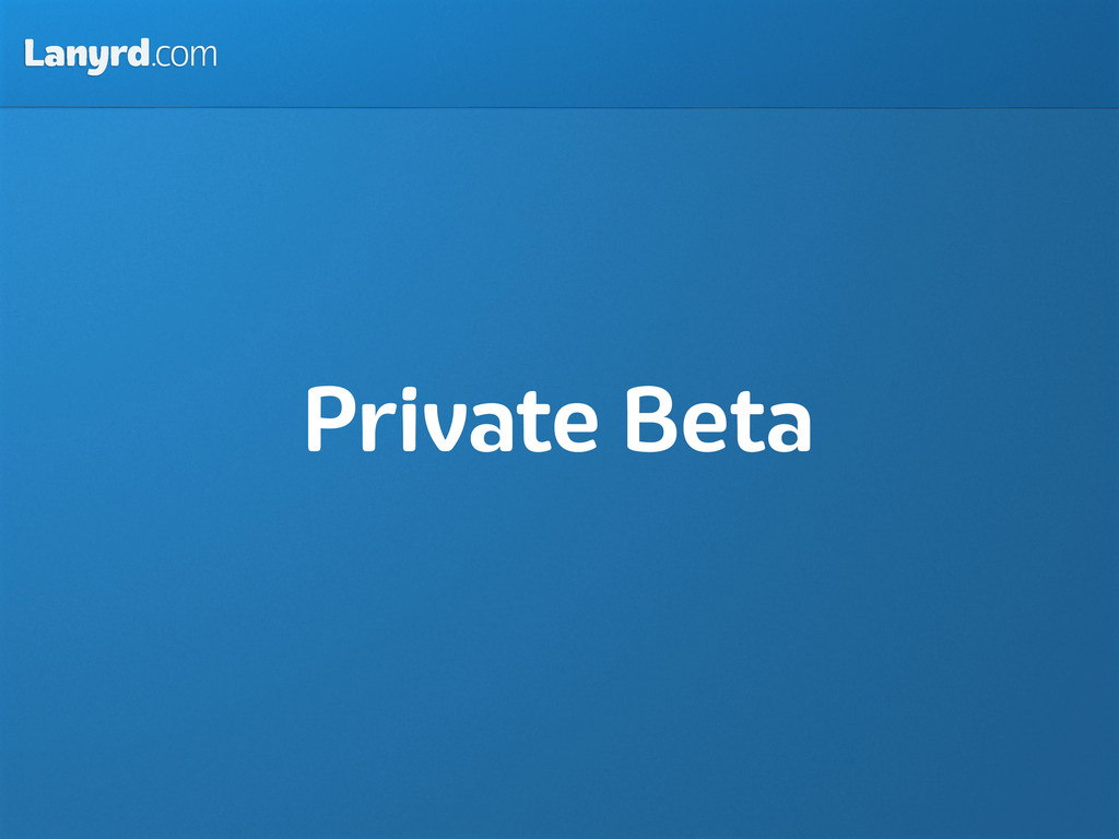 Lanyrd.com Private Beta