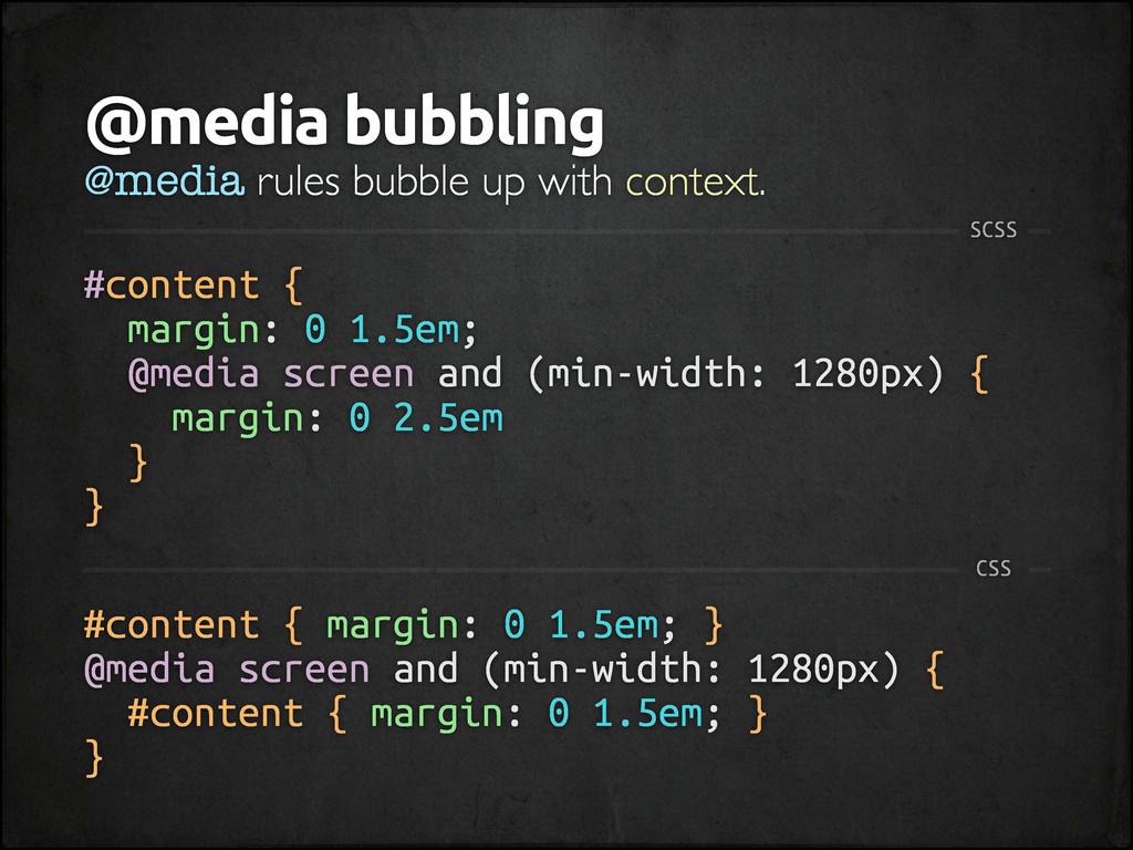 #content { margin: 0 1.5em; } @media screen and...