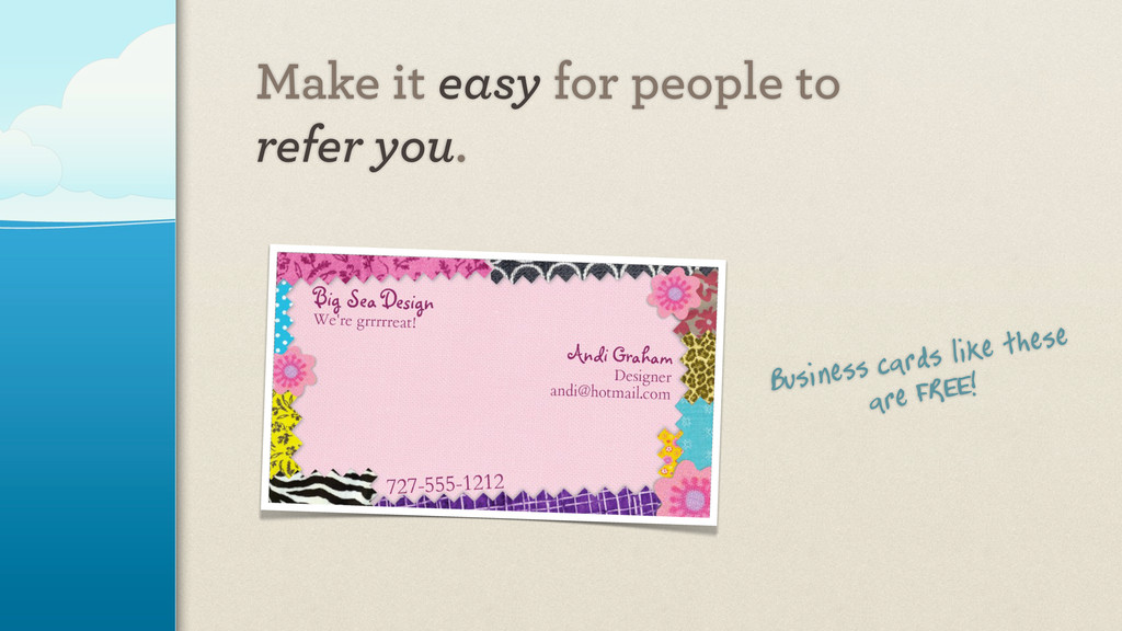 Business cards like these are FREE! Make it eas...