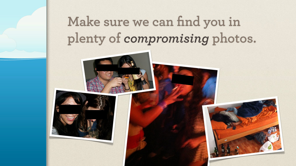 Make sure we can find you in plenty of compromis...