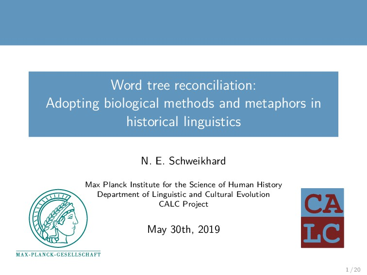 LC CA Word tree reconciliation: Adopting biolog...
