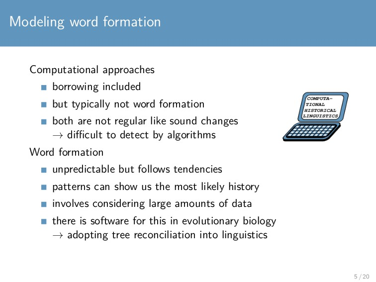 Modeling word formation Computational approache...