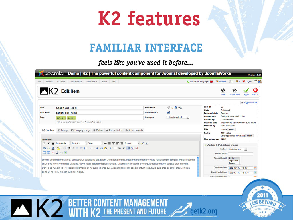 K2 features FAMILIAR INTERFACE feels like you'v...