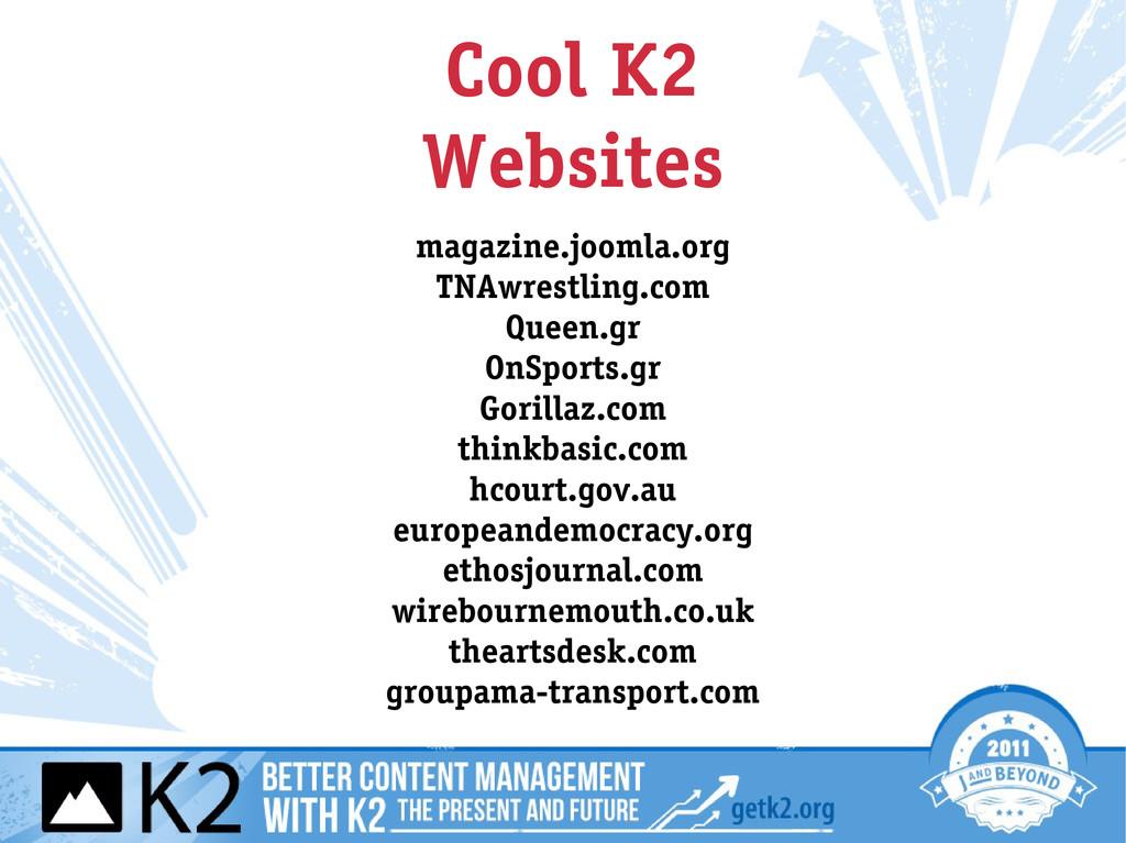 Cool K2 Websites magazine.joomla.org TNAwrestli...