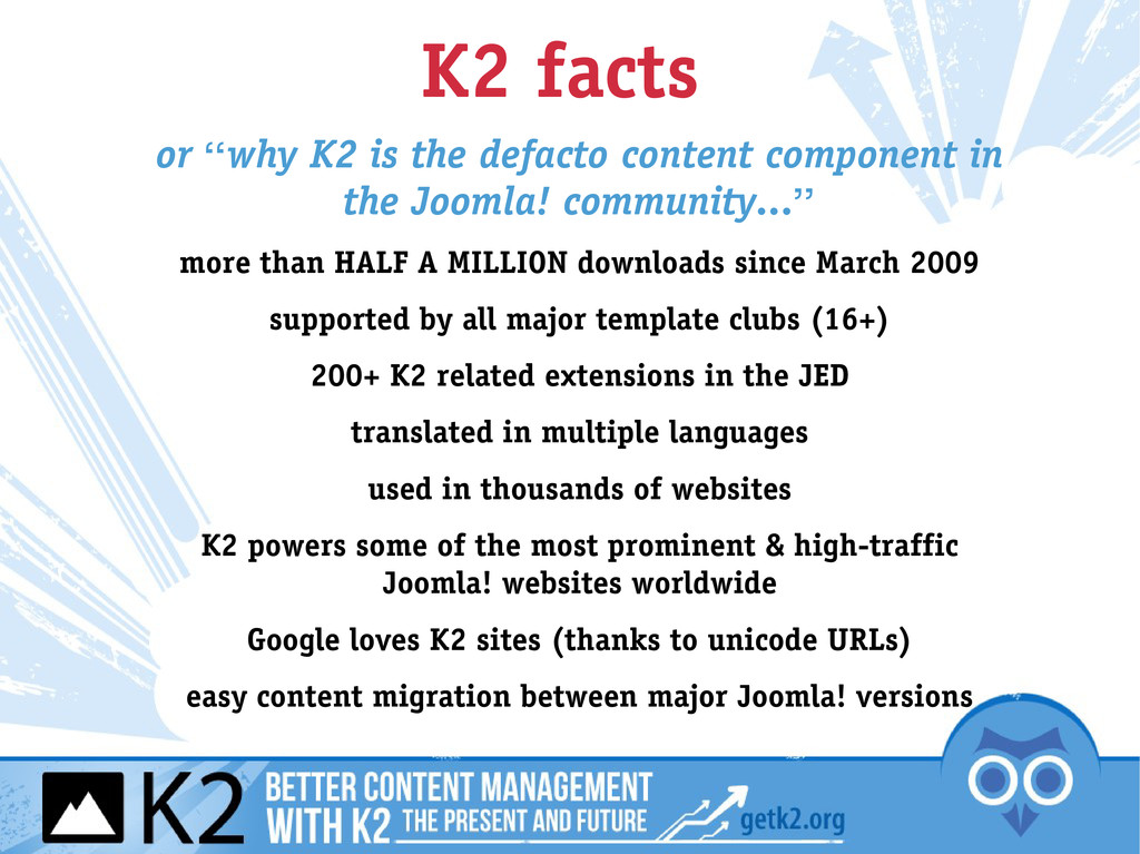 """K2 facts or """"why K2 is the defacto content comp..."""