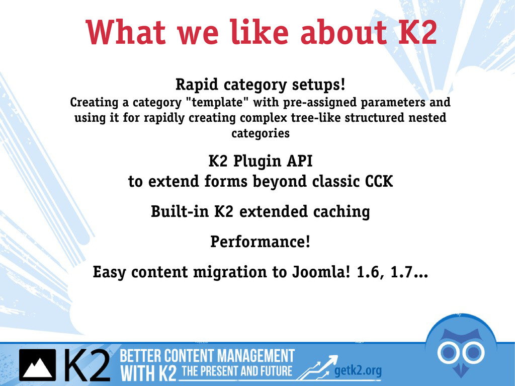 What we like about K2 Rapid category setups! Cr...