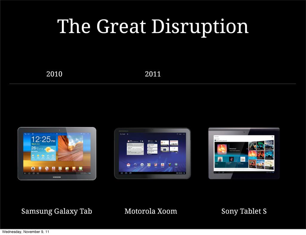 Motorola Xoom Samsung Galaxy Tab The Great Disr...