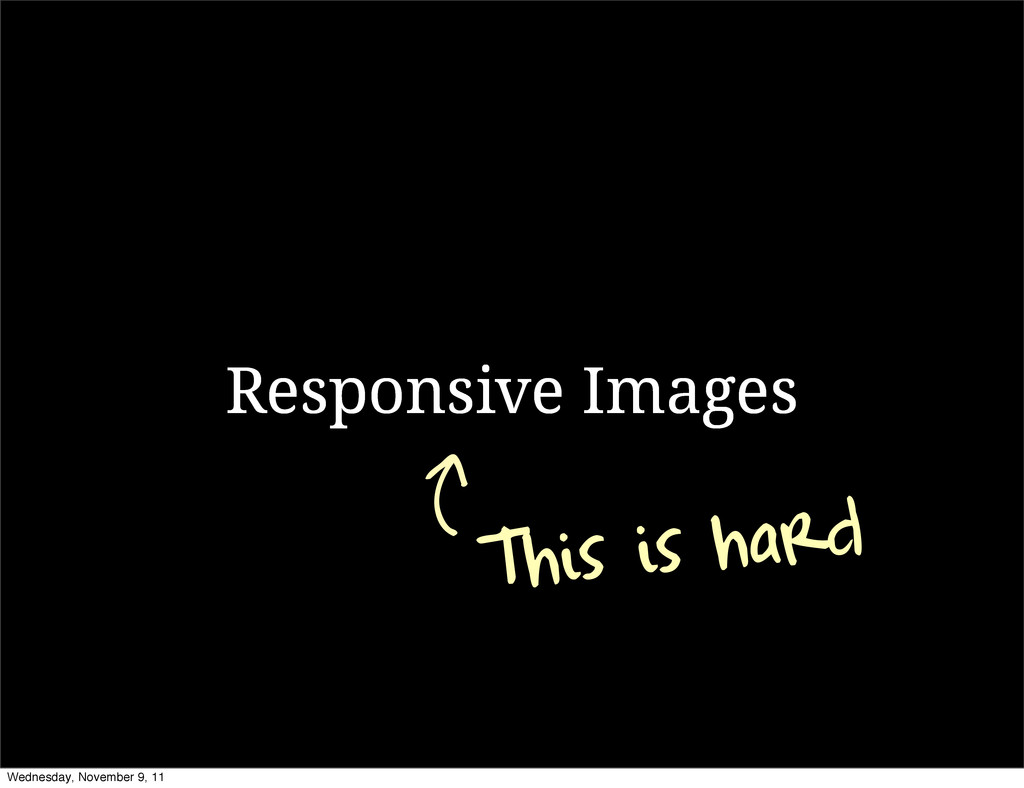 Responsive Images This is hard Wednesday, Novem...