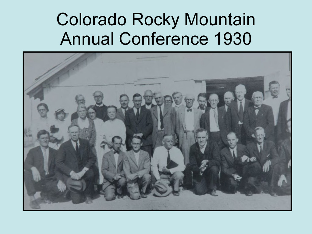 Colorado Rocky Mountain Annual Conference 1930