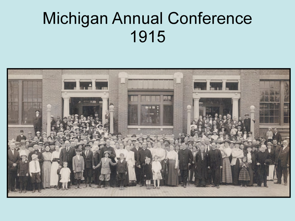 Michigan Annual Conference 1915