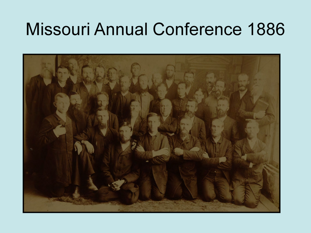 Missouri Annual Conference 1886