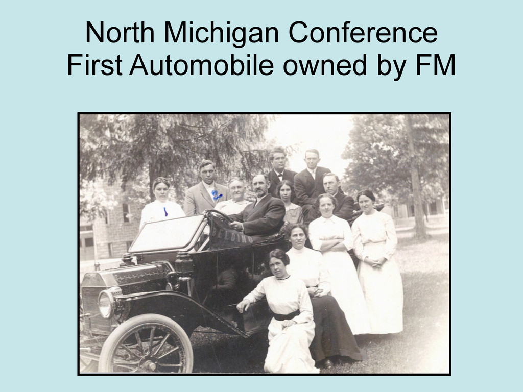 North Michigan Conference First Automobile owne...