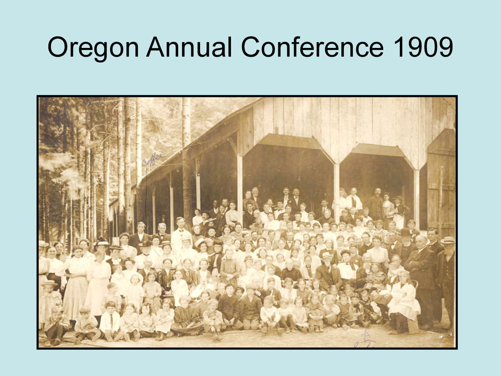Oregon Annual Conference 1909