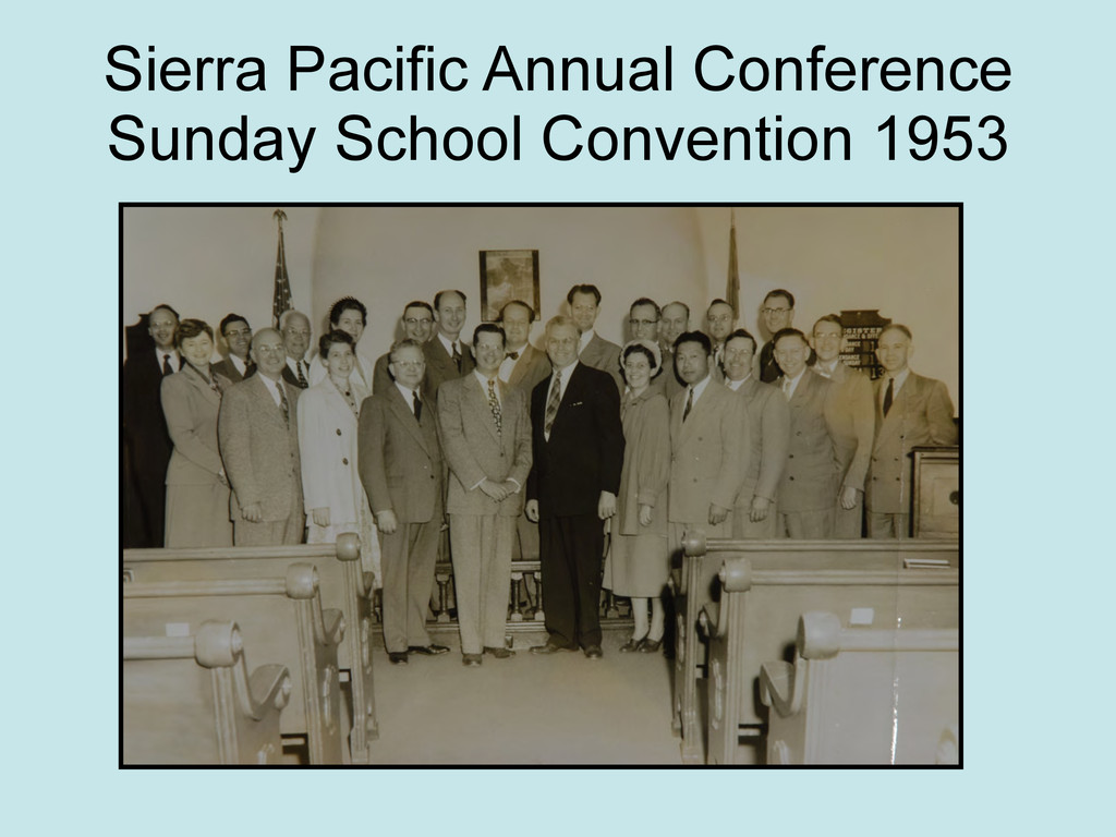 Sierra Pacific Annual Conference Sunday School ...