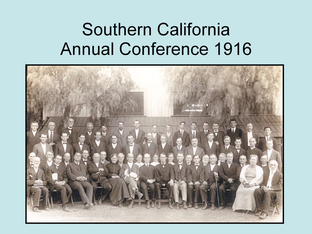 Southern California Annual Conference 1916